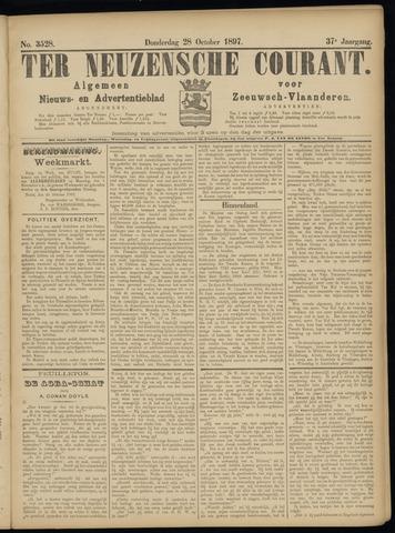 Ter Neuzensche Courant. Algemeen Nieuws- en Advertentieblad voor Zeeuwsch-Vlaanderen / Neuzensche Courant ... (idem) / (Algemeen) nieuws en advertentieblad voor Zeeuwsch-Vlaanderen 1897-10-28