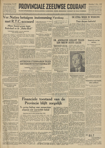 Provinciale Zeeuwse Courant 1949-12-05