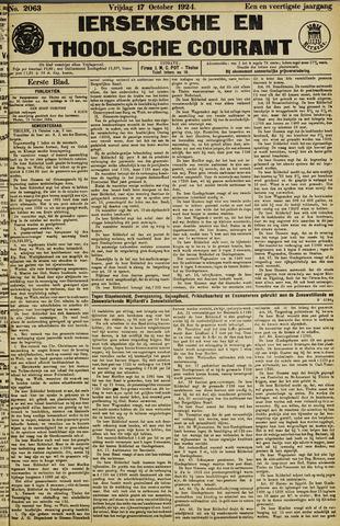 Ierseksche en Thoolsche Courant 1924-10-17