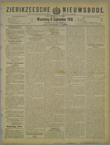 Zierikzeesche Nieuwsbode 1916-09-06