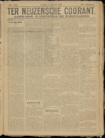 Ter Neuzensche Courant. Algemeen Nieuws- en Advertentieblad voor Zeeuwsch-Vlaanderen / Neuzensche Courant ... (idem) / (Algemeen) nieuws en advertentieblad voor Zeeuwsch-Vlaanderen 1923-01-05