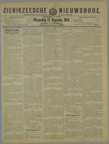 Zierikzeesche Nieuwsbode 1914-08-12