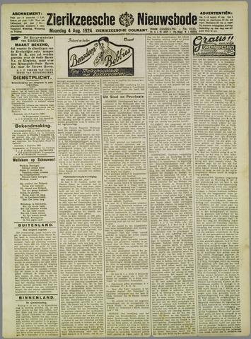 Zierikzeesche Nieuwsbode 1924-08-04