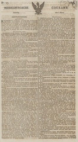 Middelburgsche Courant 1827-03-03