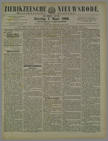 Zierikzeesche Nieuwsbode 1903-03-07