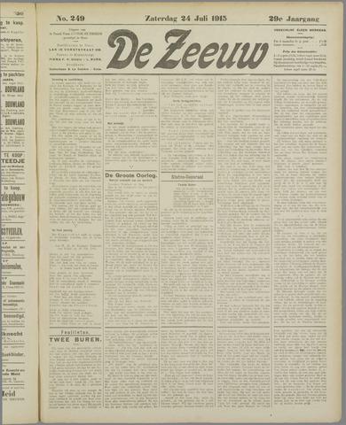 De Zeeuw. Christelijk-historisch nieuwsblad voor Zeeland 1915-07-24