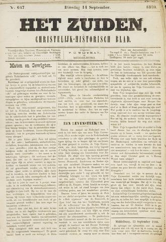 Het Zuiden, Christelijk-historisch blad 1880-09-14