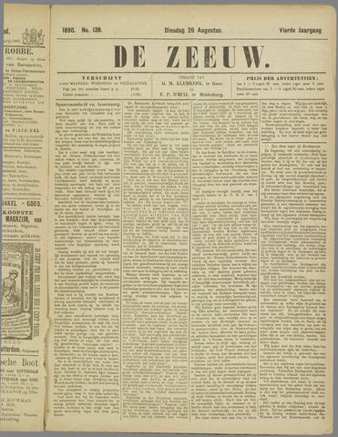 De Zeeuw. Christelijk-historisch nieuwsblad voor Zeeland 1890-08-26