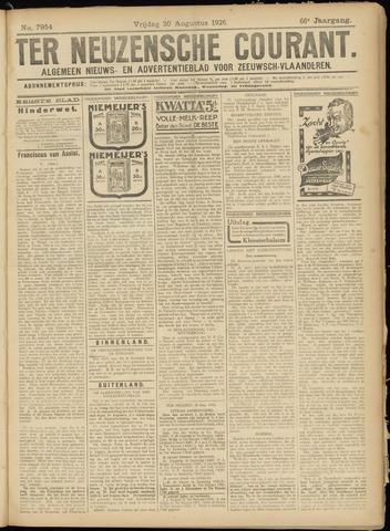Ter Neuzensche Courant. Algemeen Nieuws- en Advertentieblad voor Zeeuwsch-Vlaanderen / Neuzensche Courant ... (idem) / (Algemeen) nieuws en advertentieblad voor Zeeuwsch-Vlaanderen 1926-08-20