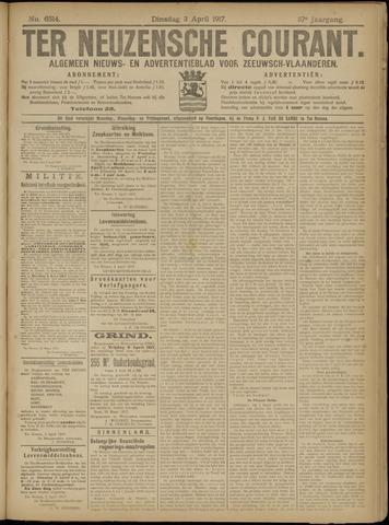 Ter Neuzensche Courant. Algemeen Nieuws- en Advertentieblad voor Zeeuwsch-Vlaanderen / Neuzensche Courant ... (idem) / (Algemeen) nieuws en advertentieblad voor Zeeuwsch-Vlaanderen 1917-04-03