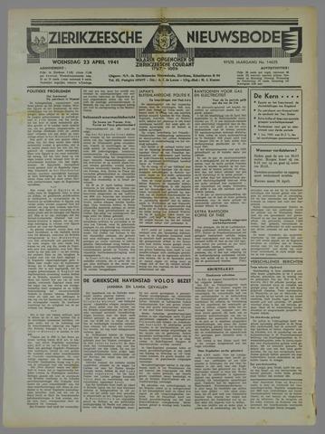 Zierikzeesche Nieuwsbode 1941-04-23