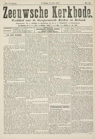 Zeeuwsche kerkbode, weekblad gewijd aan de belangen der gereformeerde kerken/ Zeeuwsch kerkblad 1917-07-13