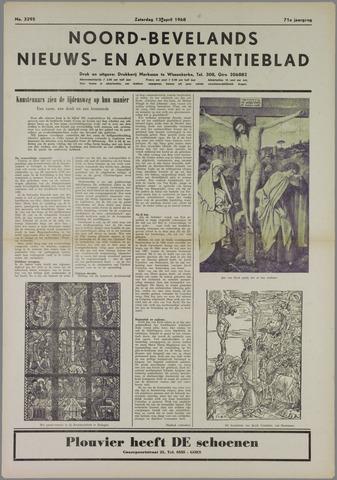 Noord-Bevelands Nieuws- en advertentieblad 1968-04-13