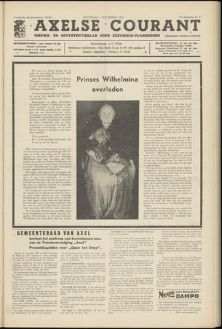 Axelsche Courant 1962-12-01