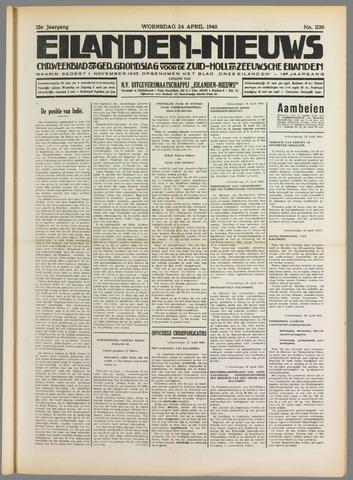 Eilanden-nieuws. Christelijk streekblad op gereformeerde grondslag 1940-04-24