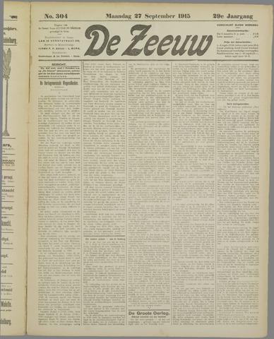 De Zeeuw. Christelijk-historisch nieuwsblad voor Zeeland 1915-09-27