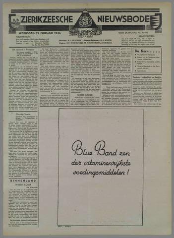 Zierikzeesche Nieuwsbode 1936-02-19