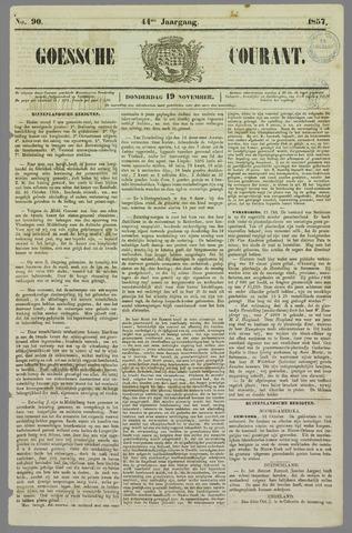 Goessche Courant 1857-11-19