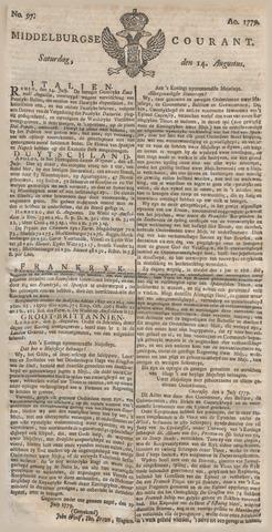 Middelburgsche Courant 1779-08-14
