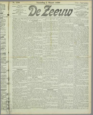 De Zeeuw. Christelijk-historisch nieuwsblad voor Zeeland 1920-03-01