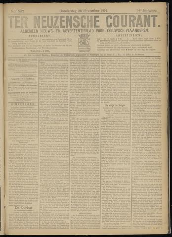 Ter Neuzensche Courant. Algemeen Nieuws- en Advertentieblad voor Zeeuwsch-Vlaanderen / Neuzensche Courant ... (idem) / (Algemeen) nieuws en advertentieblad voor Zeeuwsch-Vlaanderen 1914-11-26