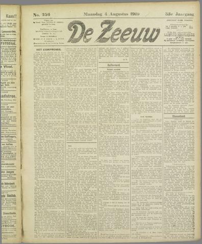 De Zeeuw. Christelijk-historisch nieuwsblad voor Zeeland 1919-08-04