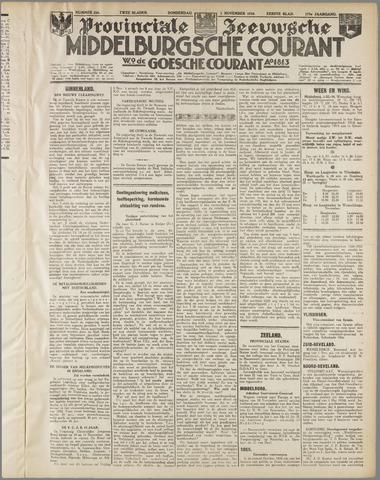 Middelburgsche Courant 1934-11-01