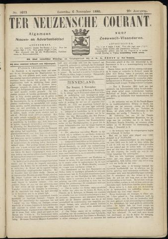 Ter Neuzensche Courant. Algemeen Nieuws- en Advertentieblad voor Zeeuwsch-Vlaanderen / Neuzensche Courant ... (idem) / (Algemeen) nieuws en advertentieblad voor Zeeuwsch-Vlaanderen 1880-11-06