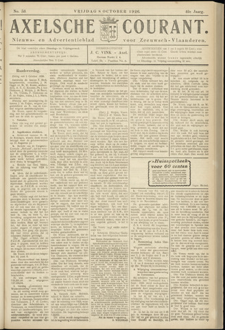 Axelsche Courant 1926-10-08
