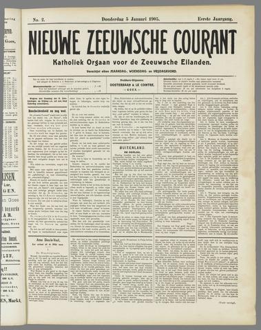 Nieuwe Zeeuwsche Courant 1905-01-05
