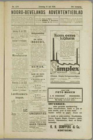 Noord-Bevelands Nieuws- en advertentieblad 1928-07-14
