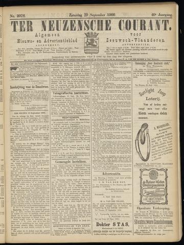 Ter Neuzensche Courant. Algemeen Nieuws- en Advertentieblad voor Zeeuwsch-Vlaanderen / Neuzensche Courant ... (idem) / (Algemeen) nieuws en advertentieblad voor Zeeuwsch-Vlaanderen 1900-09-29