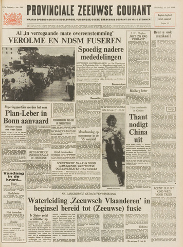 Provinciale Zeeuwse Courant 1968-06-27