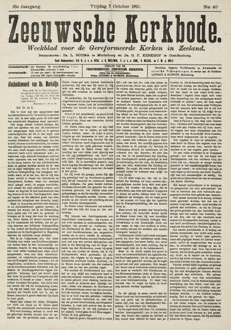Zeeuwsche kerkbode, weekblad gewijd aan de belangen der gereformeerde kerken/ Zeeuwsch kerkblad 1921-10-07