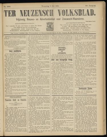 Ter Neuzensch Volksblad. Vrijzinnig nieuws- en advertentieblad voor Zeeuwsch- Vlaanderen / Zeeuwsch Nieuwsblad. Nieuws- en advertentieblad voor Zeeland 1913-07-02