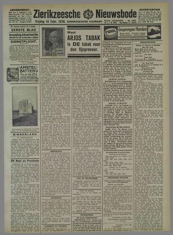 Zierikzeesche Nieuwsbode 1930-02-14