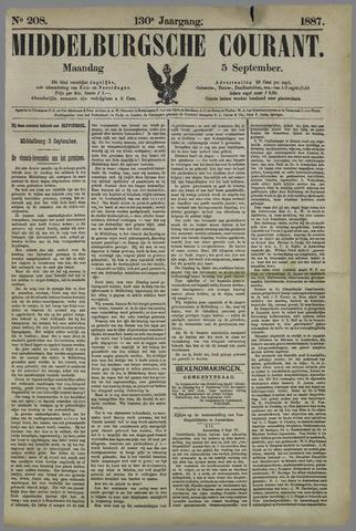 Middelburgsche Courant 1887-09-05