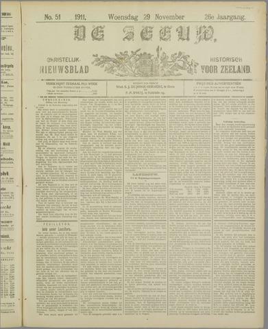 De Zeeuw. Christelijk-historisch nieuwsblad voor Zeeland 1911-11-29