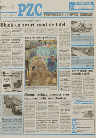 Provinciale Zeeuwse Courant 1991-11-30