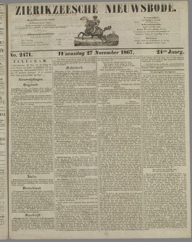 Zierikzeesche Nieuwsbode 1867-11-27