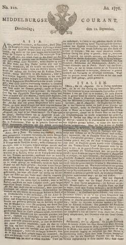 Middelburgsche Courant 1771-09-12