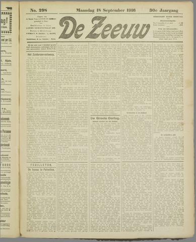 De Zeeuw. Christelijk-historisch nieuwsblad voor Zeeland 1916-09-18