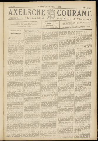 Axelsche Courant 1937-07-09
