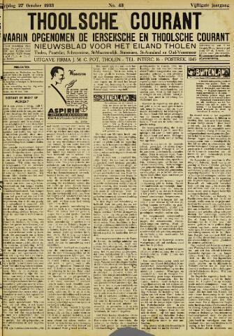 Ierseksche en Thoolsche Courant 1933-10-27