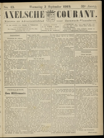 Axelsche Courant 1919-09-03