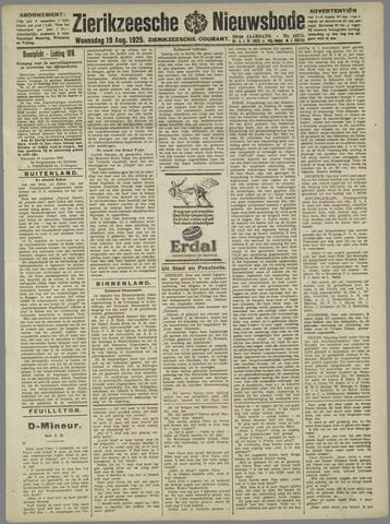 Zierikzeesche Nieuwsbode 1925-08-19