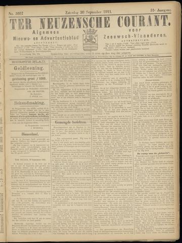 Ter Neuzensche Courant. Algemeen Nieuws- en Advertentieblad voor Zeeuwsch-Vlaanderen / Neuzensche Courant ... (idem) / (Algemeen) nieuws en advertentieblad voor Zeeuwsch-Vlaanderen 1911-09-30