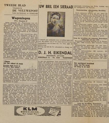 Watersnood documentatie 1953 - kranten 1953-02-14