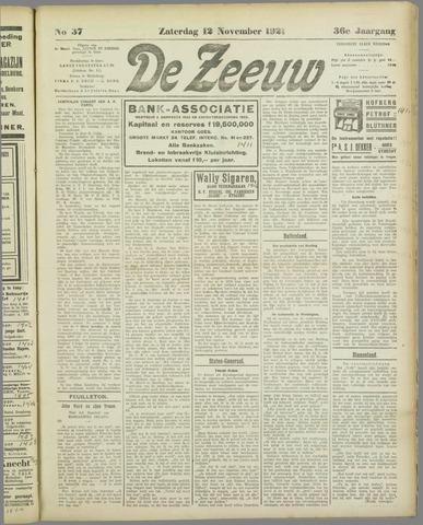 De Zeeuw. Christelijk-historisch nieuwsblad voor Zeeland 1921-11-12