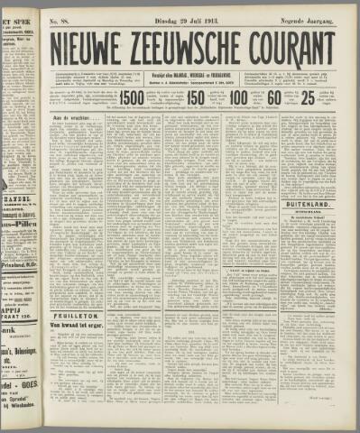 Nieuwe Zeeuwsche Courant 1913-07-29